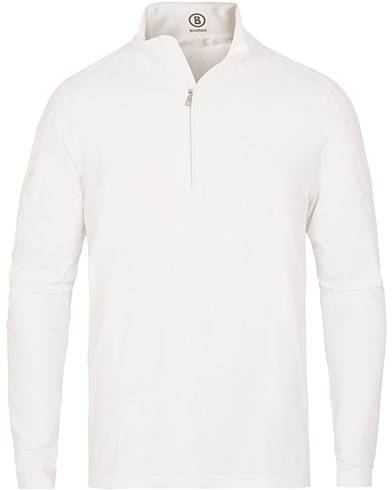 Bogner Harrison Tech Half Zip Sweater White