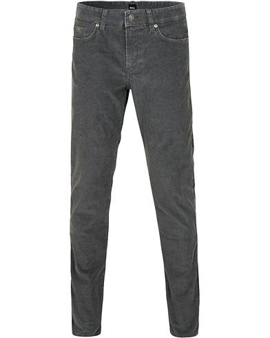 BOSS Delaware Corduroy Trousers Grey