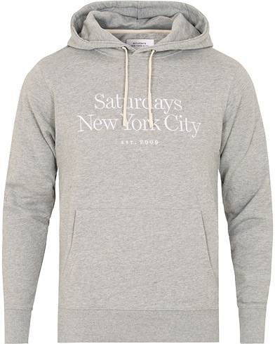 Saturdays NYC  Ditch Miller Standard Embroidered Hoodie Ash Heather