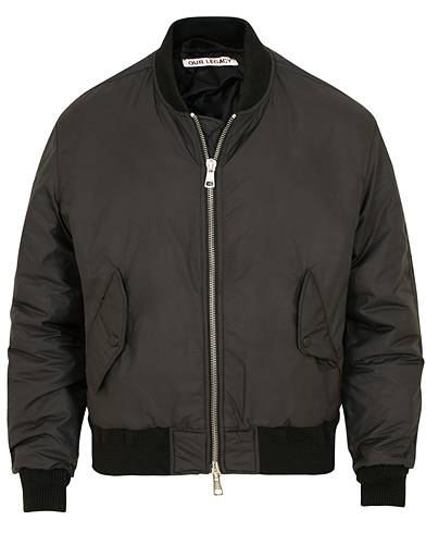 Our Legacy Life Saver Bomber Jacket Black Nylon