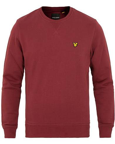 Lyle & Scott Crew Neck Sweatshirt Claret Jug