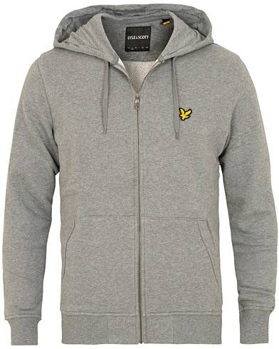 Lyle & Scott Full Zip Hoodie Mid Grey Marl