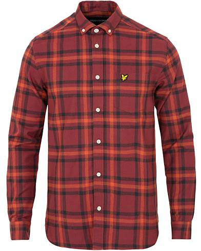 Lyle & Scott Check Flannel Shirt Claret Jug/Dark Navy