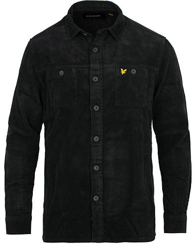 Lyle & Scott Corduroy Overshirt True Black