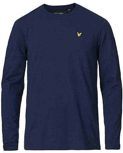 Lyle & Scott Long Sleeve Crew Neck Tee Navy