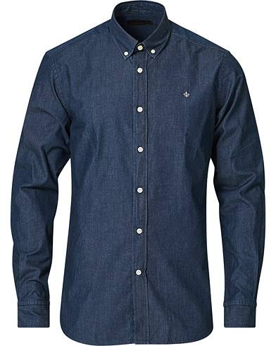 Morris Julian Botton Down Denim Shirt Dark Wash