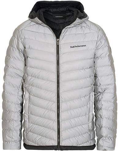 Peak Performance Frost Down Hood Reflective Jacket Silver
