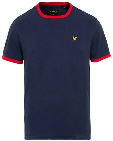 Lyle & Scott Ringer T-Shirt Navy/Dark Red