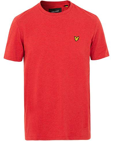 Lyle & Scott Garment Dyed T-Shirt Dark Red Marl