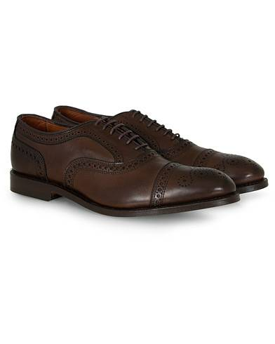 Allen Edmonds Strand Brogue Dark Brown Calf