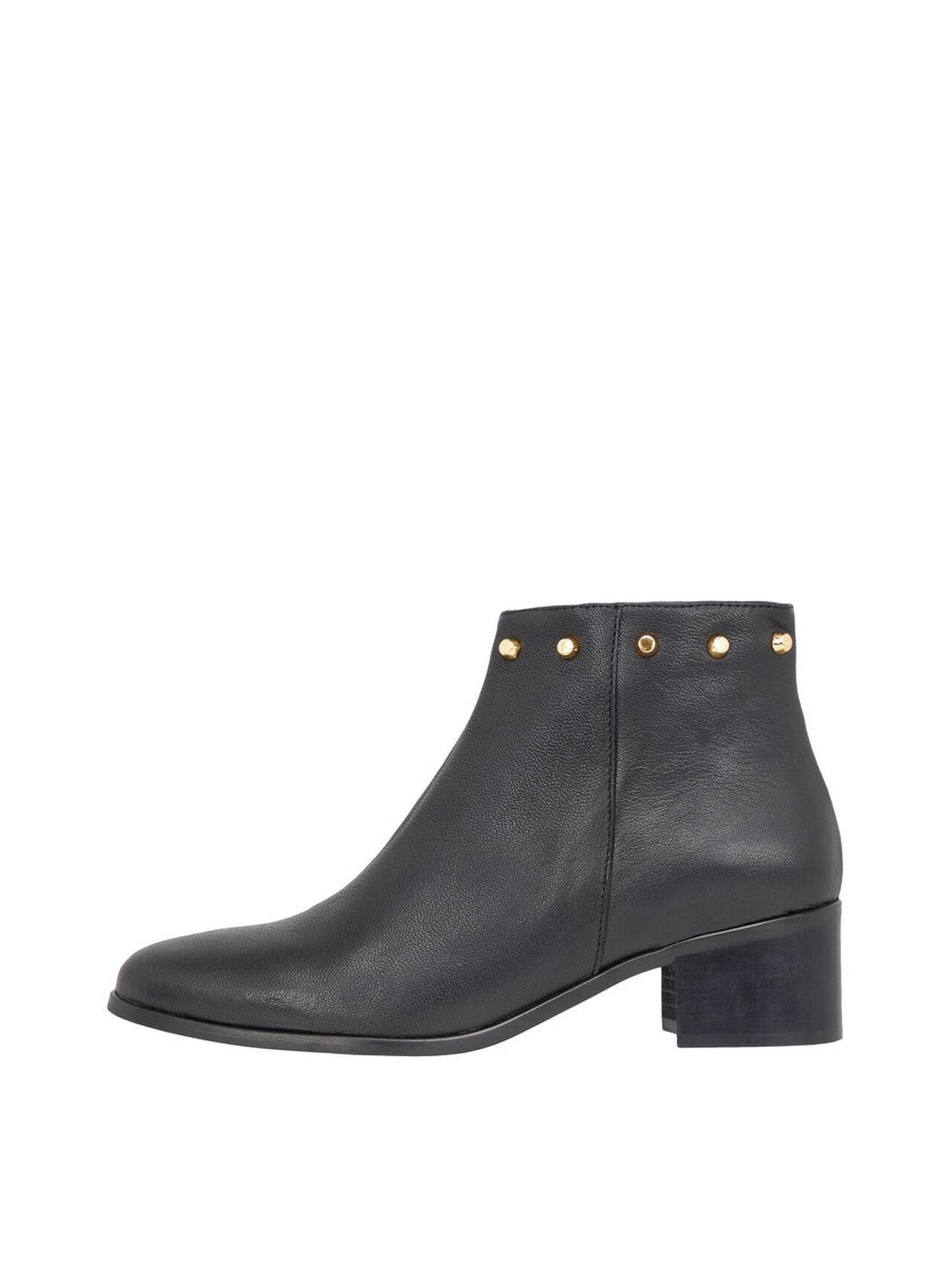 BIANCO Stud Top Ankle Boots Women Black