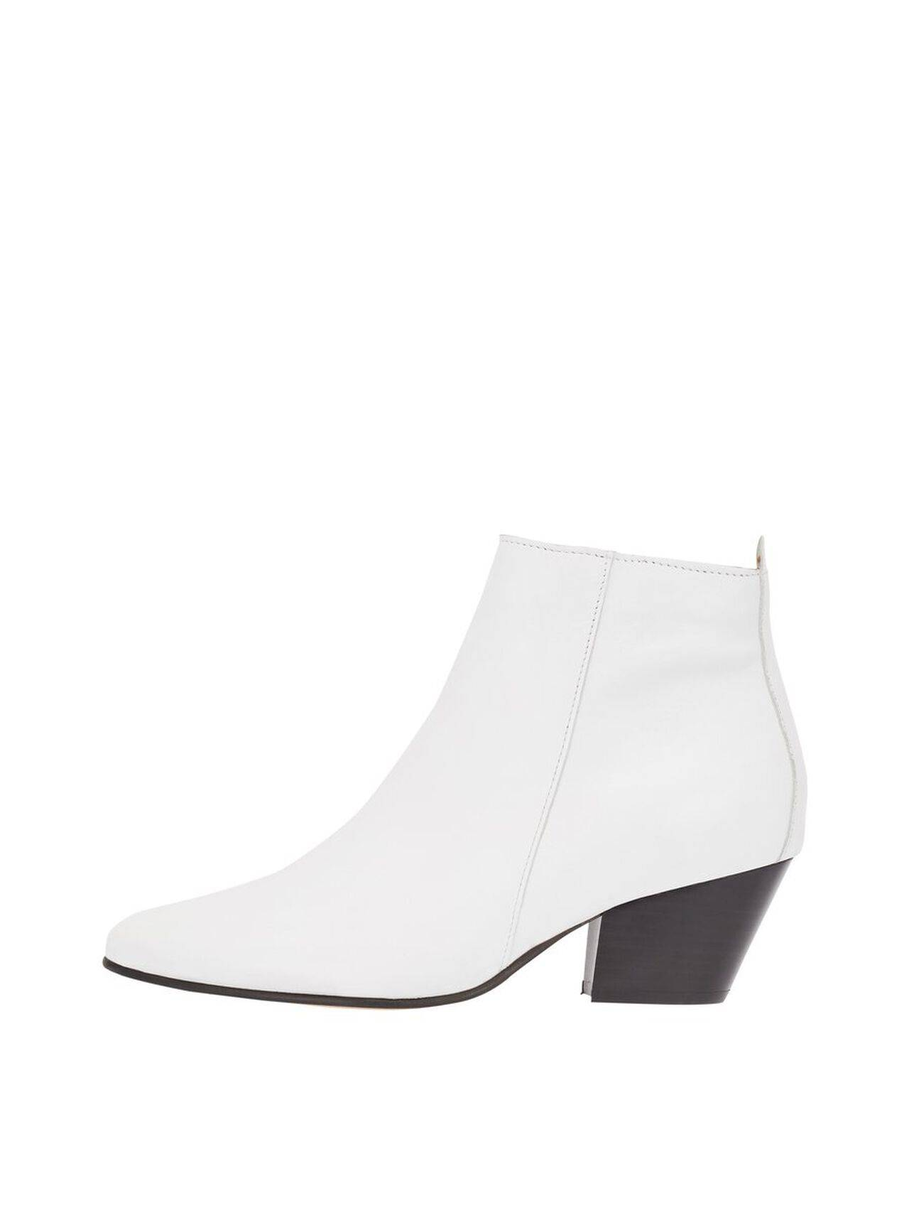 BIANCO Annie Leather Ankle Boots Women White