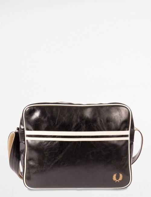 Fred Perry, CLASSIC SHOULDER BAG, Musta, LAUKUT/TOILETTILAUKUT till Unisex, One size