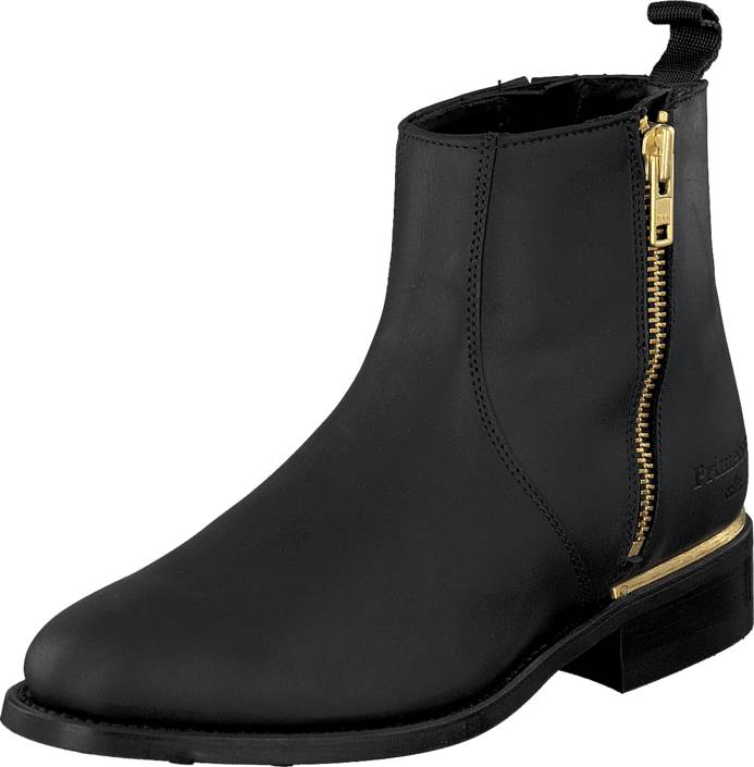 PrimeBoots Ascot Majesty Low Black Brass, Kengät, Bootsit, Chelsea boots, Musta, Naiset, 36