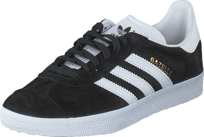 adidas Originals Gazelle Core Black/White/Gold Met., Kengät, Sneakerit ja urheilukengät, Sneakerit, Musta, Unisex, 41