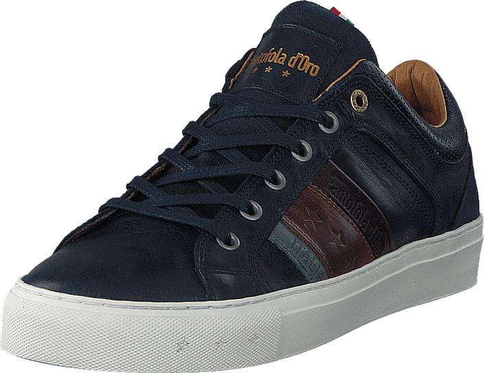 Image of Pantofola d'Oro Monza Uomo Low Dress Blue, Kengät, Sneakerit ja urheilukengät, Sneakerit, Sininen, Miehet, 41