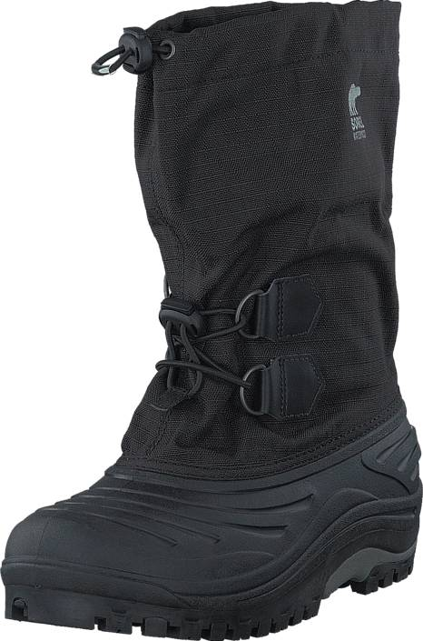 Sorel Super Trooper Youth 011 Black Light grey, Kengät, Bootsit, Lämminvuoriset kengät, Musta, Unisex, 32
