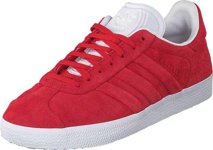 adidas Originals Gazelle Stitch And Turn Collegiate Red/Ftwr White, Kengät, Sneakerit ja urheilukengät, Varrettomat tennarit, Punainen, Unisex, 44