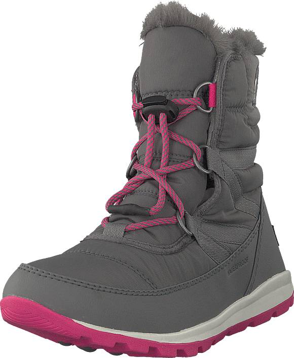 Sorel Youth Whitney Short Lace 053 Quarry Pink Ice, Kengät, Sneakerit ja urheilukengät, Korkeavartiset sneakerit, Harmaa, Unisex, 34