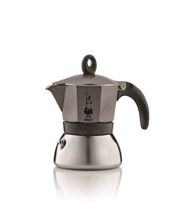 Bialetti Espressokeitin Moka Induction Anthracite 3/k