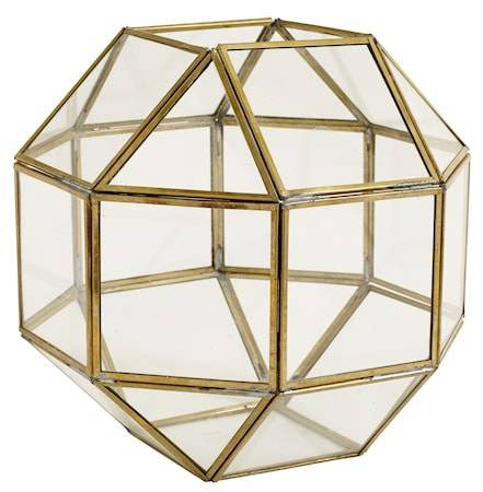 Nordal Edged brass lantern – Medium