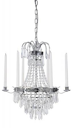 Cottex Karlberg Crystal Chandelier Chrome