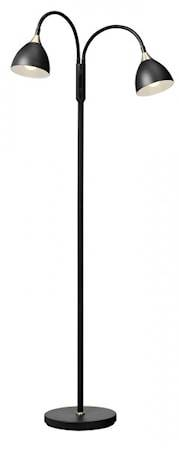 Cottex Läza Floor Lamp Black with Brass details