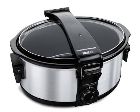 Hamilton Beach Slow Cooker Stay or Go, 5,5 L