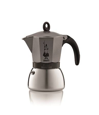 Bialetti Espressokeitin Moka Induction Anthracite 6/k