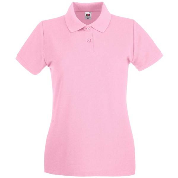 Fruit of the Loom Lady-Fit Premium Polo - Lightpink