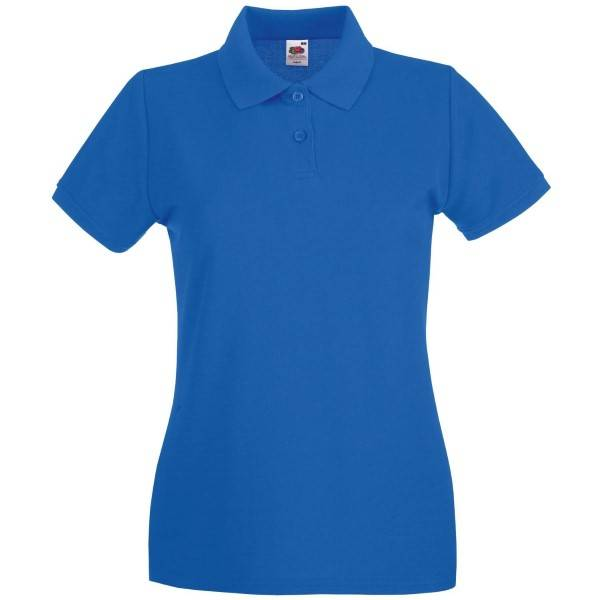 Fruit of the Loom Lady-Fit Premium Polo - Royalblue