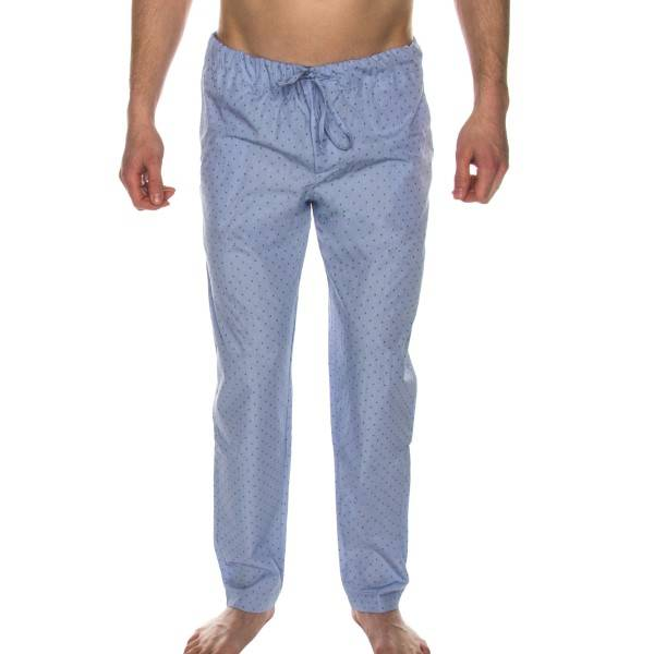 Hanro Night And Day Long Pant - Blue Pattern - X-Large