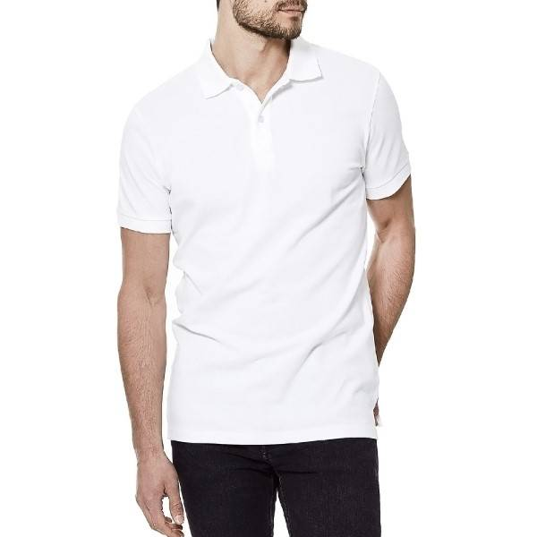 Bread & Boxers Bread and Boxers Pique Polo - White