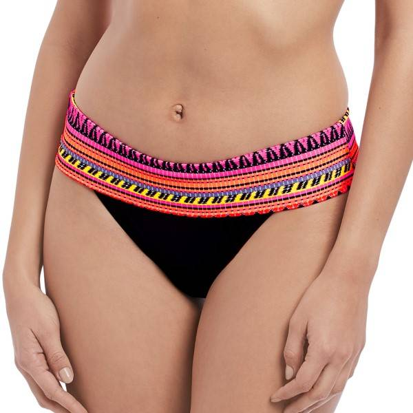 Freya Way Out West Sunset Classic Fold Brief - Black pattern-2