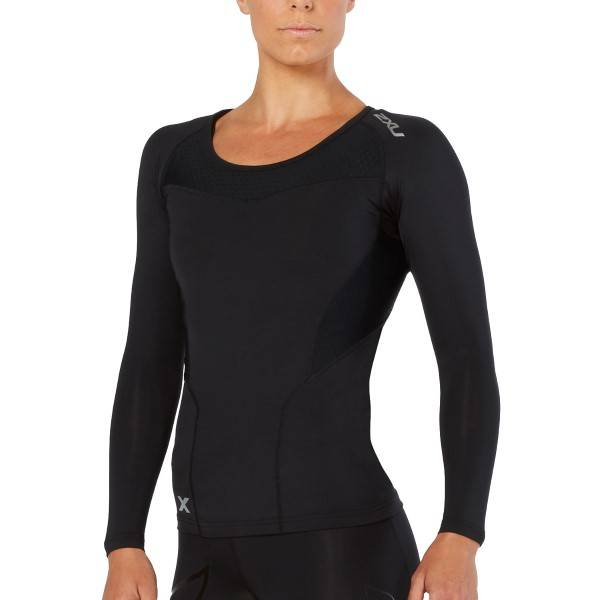 2XU Compression Long-Sleeve Shirt Women - Black - Small