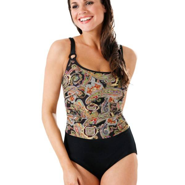 Miss Mary of Sweden Miss Mary Paisley Swimsuit 54 - 56 - Paisley - B 54