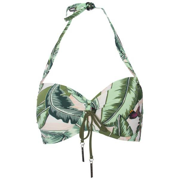 Seafolly Palm Beach Soft Cup Halter Bikini Top - Green Pattern * Kampanja *