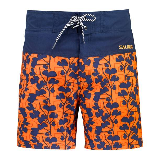 Salming Marco Swim Boardshorts - Blue/Orange - X-Large