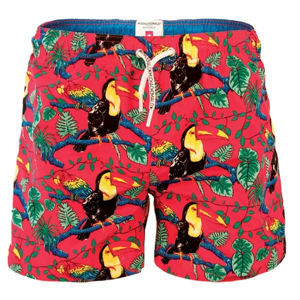 Muchachomalo Swim Costa Rica Boardshort - Red Pattern-2 - Large * Kampanja *