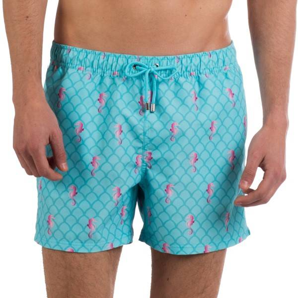 Panos Emporio Horse Race Apollo Swim Shorts - Blue Pattern - Medium