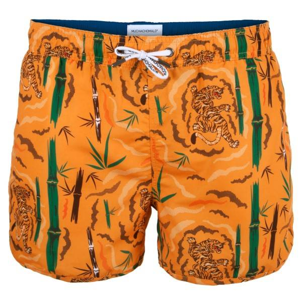 Muchachomalo Swim Tiger Wood Boardshort - Orange patterned