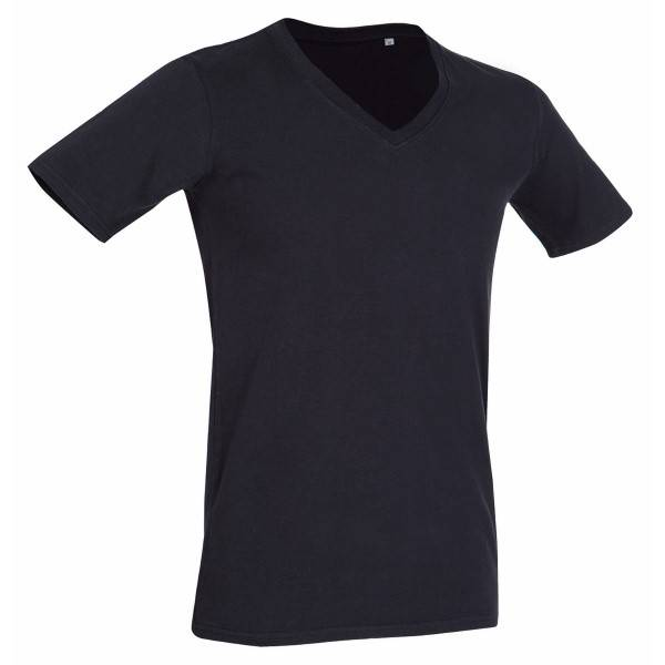 Stedman Dean Deep V-neck - Black
