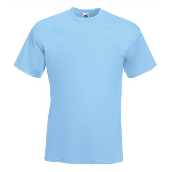 Fruit of the Loom Valueweight Crew Neck T - Skyblue - Large
