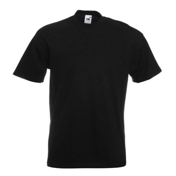 Fruit of the Loom Valueweight Crew Neck T - Black
