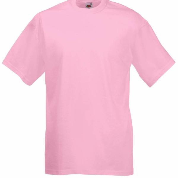 Fruit of the Loom Valueweight Crew Neck T - Pink