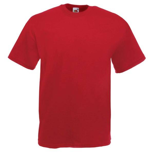 Fruit of the Loom Valueweight Crew Neck T - Darkred