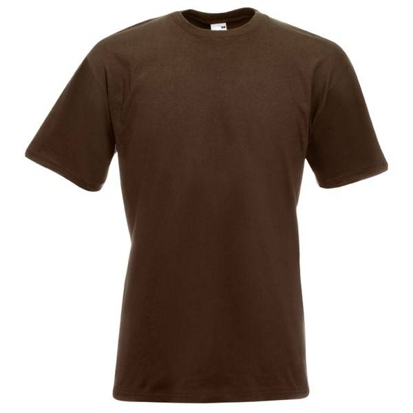 Fruit of the Loom Valueweight Crew Neck T - Brown