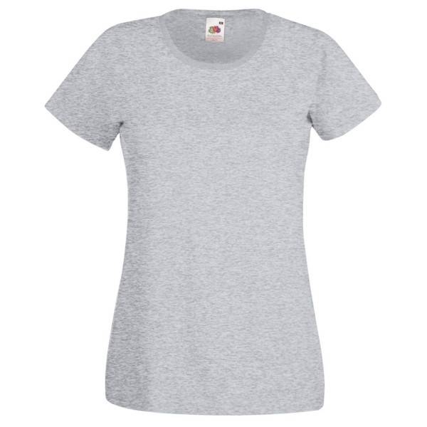 Fruit of the Loom Lady-Fit Valueweight T - Greymarl - Large