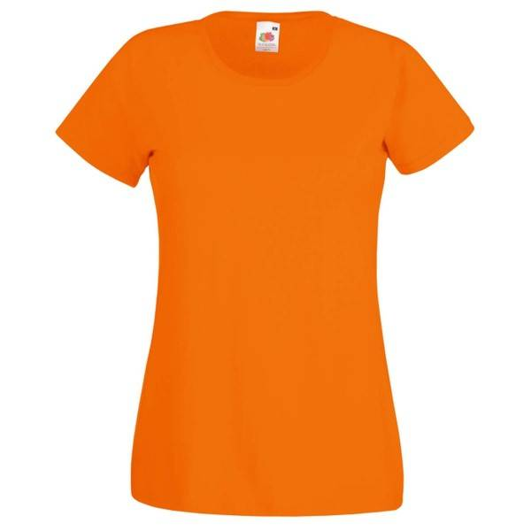 Fruit of the Loom Lady-Fit Valueweight T - Orange