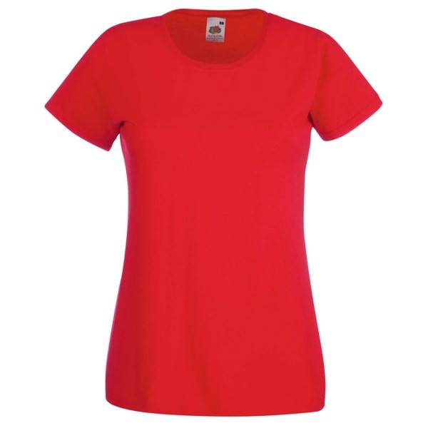 Fruit of the Loom Lady-Fit Valueweight T - Red